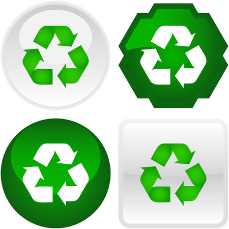 Set of eco buttons Vector