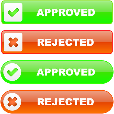 Approved and rejected icons.    Stock Vector - 6331509