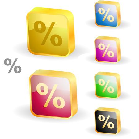 off balance: Percent button set.   Illustration