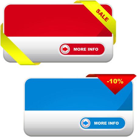 hot announcement: Colecci�n de vector de banners de venta