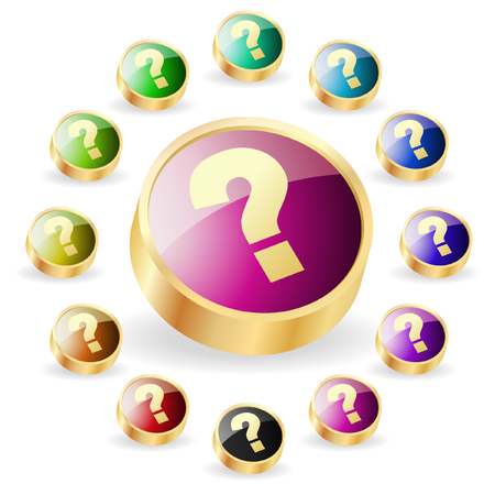 Question vector buttons Stock Vector - 6331768