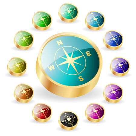 Vector compass. Graphic elements set. Stock Vector - 6331837