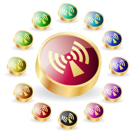 Сommunication buttons . Vector set. Stock Vector - 6331808