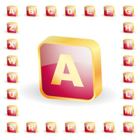 3d alphabet. Vector set.   Stock Vector - 6331736