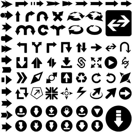 A vector set of useful arrows. Stock Vector - 6331492