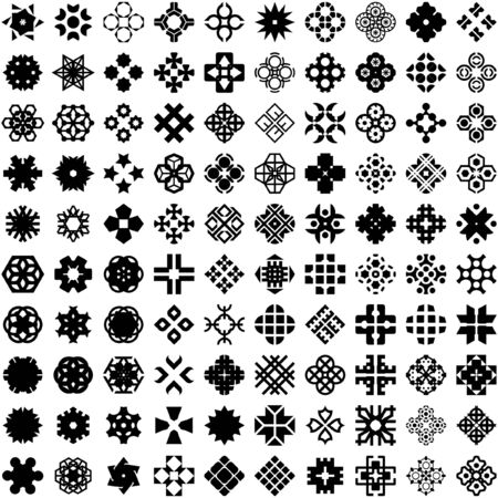 Graphic elements set. Vector illustration.   Vector
