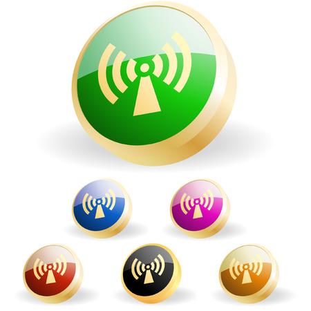 Сommunication buttons . Vector set. Stock Vector - 6331712