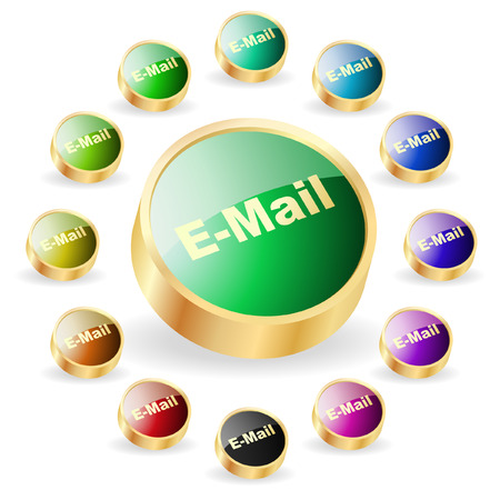 E-mail icon set for web. Stock Vector - 6331820