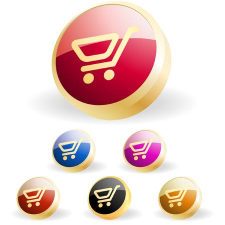Shopping button. Vector collection.    Stock Vector - 6331723