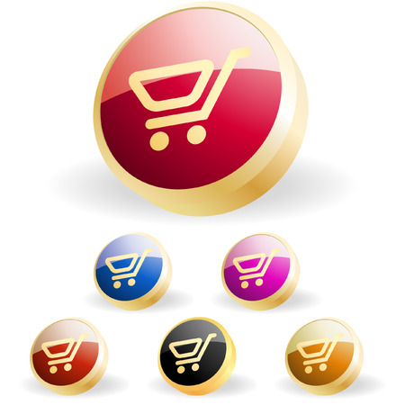 Shopping button. Vector collection. Stock Vector - 6331723