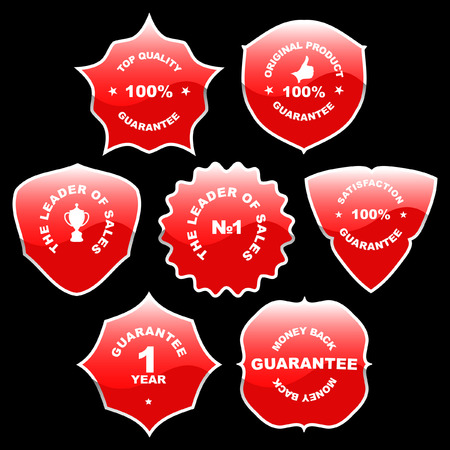 Set of red labels for sale. Stock Vector - 6331592