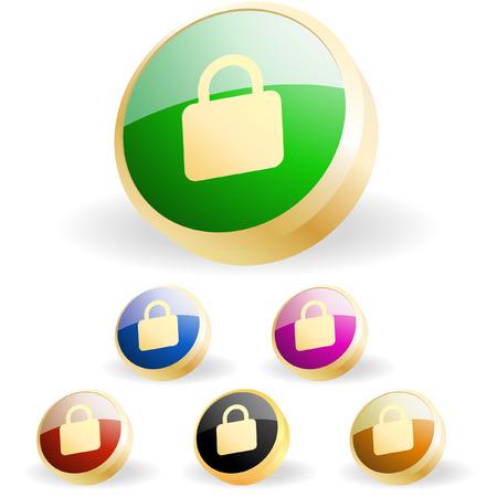 Lock icon. Vector set for web. Stock Vector - 6331686