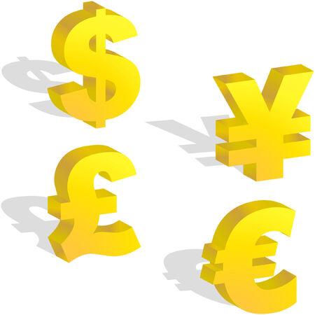 Money signs Vector