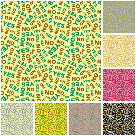 YES and NO seamless background. Vector pattern.    Vector