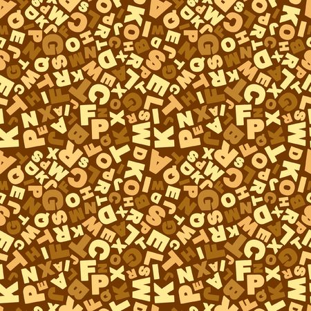 Seamless alphabet background. Vector pattern.   Vector