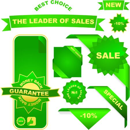 Vector collection of sale labels Stock Vector - 6544952