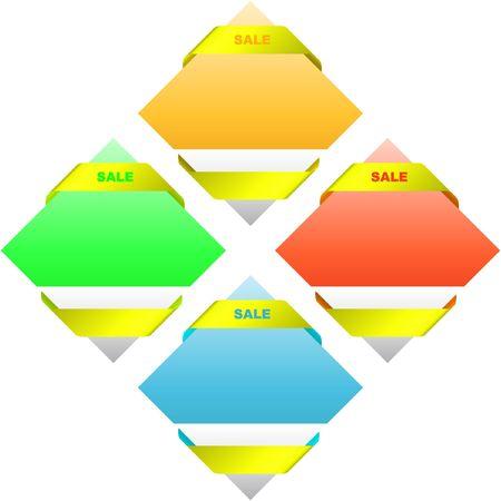 procent: Set of sale labels Illustration