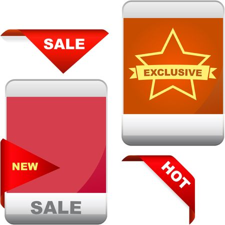 Set of design elements for sale. Stock Vector - 6549308