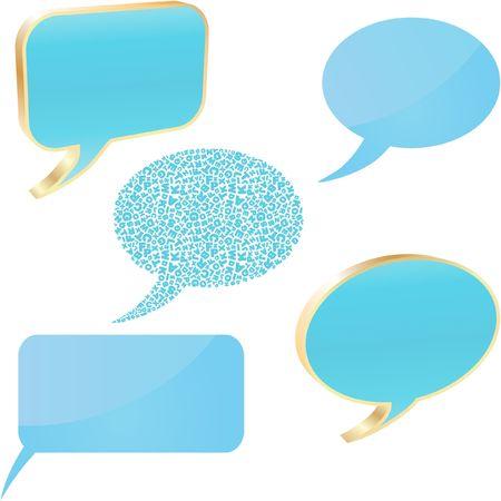 Speech bubble buttons.   Stock Vector - 6549489