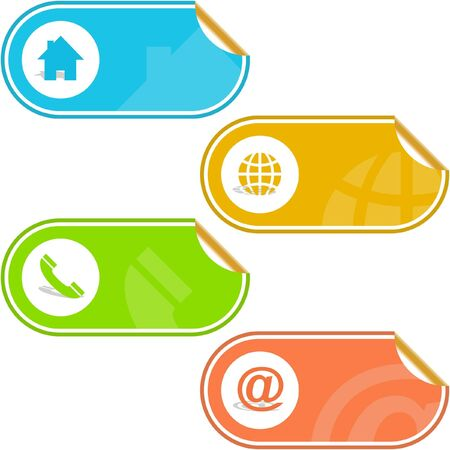 Contact labels for design.   Stock Vector - 6549279