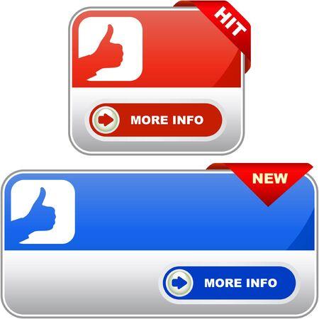 shop button: Vector banners for sale   Illustration