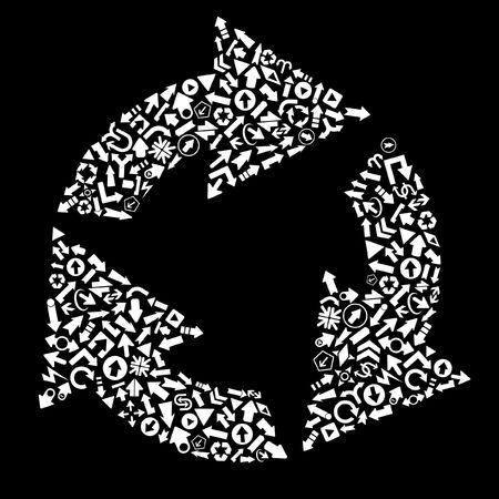recycle symbol vector: Recycle symbol. Vector illustration.