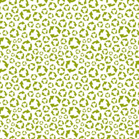 pollution free: Seamless recycle background. Vector pattern.
