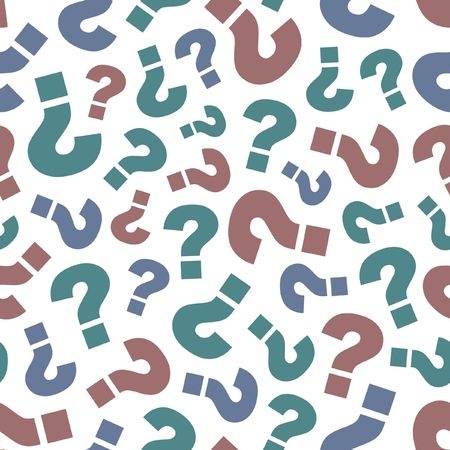 inquiry: Seamless pattern with question.