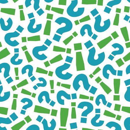 exclamacion: Patrón transparente con signos de pregunta y signo de exclamación.