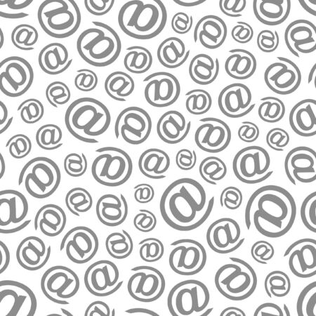Seamless email pattern. Vector