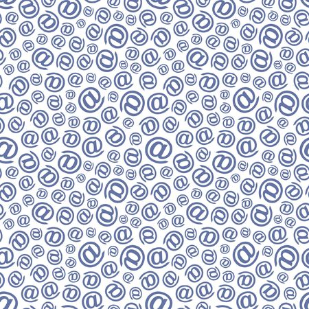 Seamless email background.   Vector