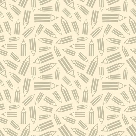 Seamless pencil background.   Vector