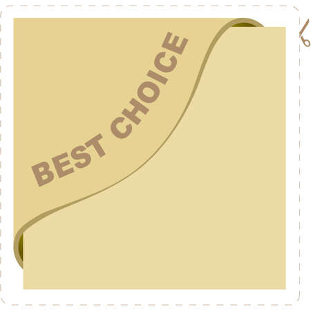 BEST CHOICE element for market. Vector