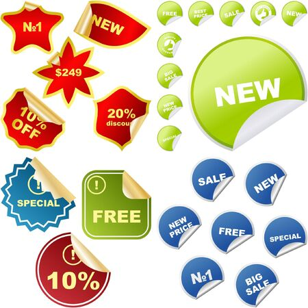 Sale stickers. great collection. Stock Vector - 6577475