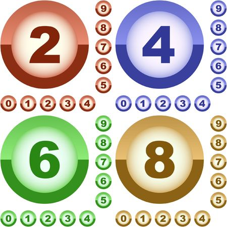 number four: Number icon.