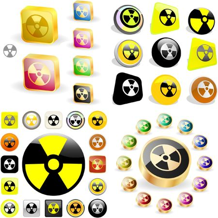 Radioactive icon. great collection. Stock Vector - 6577706