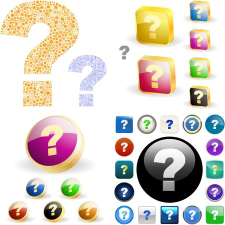 Question button set. Stock Vector - 6578089