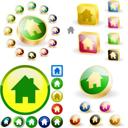 Home buttons. great collection. Stock Vector - 6577564