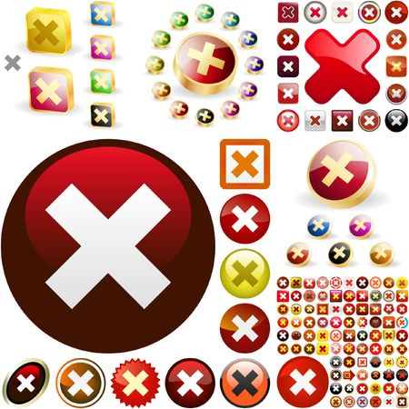 Rejected  buttons. Stock Vector - 6578080