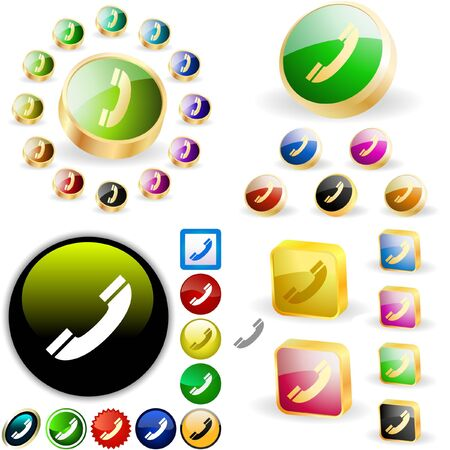 Phone buttons for web. Stock Vector - 6577566