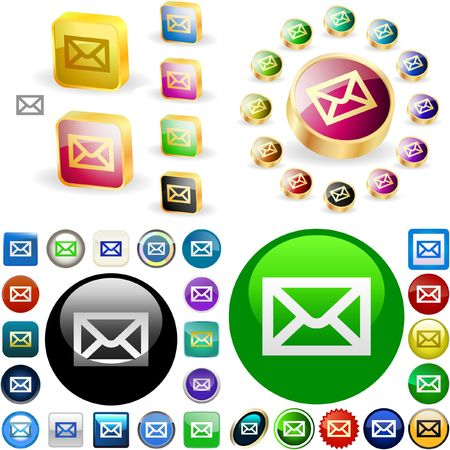 E-mail button.  Vector