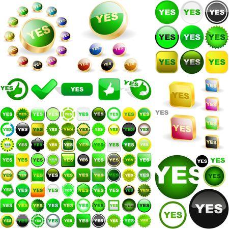 sanction: Approved buttons.  Illustration