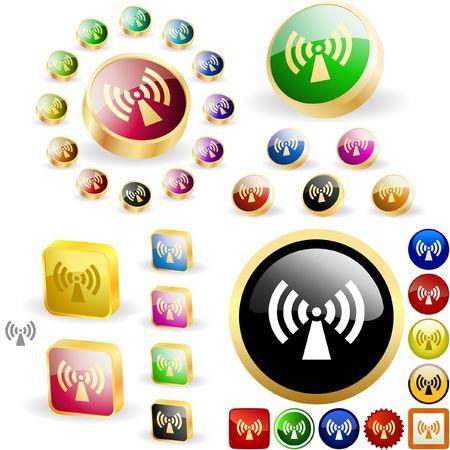 omroep: Communicatie knop set.