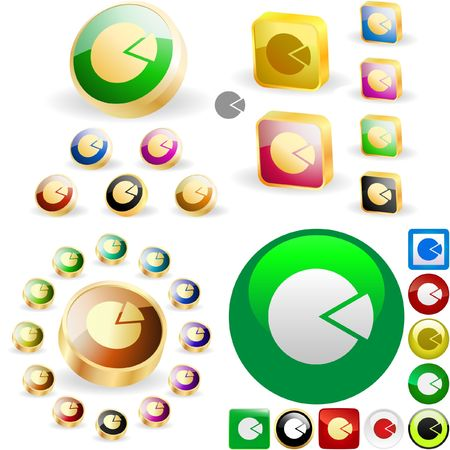 Diagram button set for web. Stock Vector - 6577568
