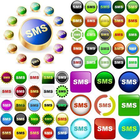 sender: Sms buttons.  Illustration
