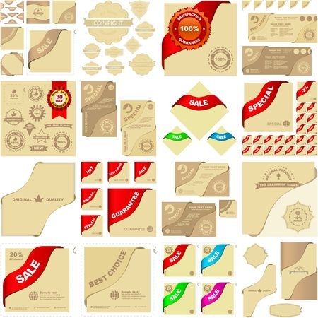 Set of design elements for sale. Stock Vector - 6578093