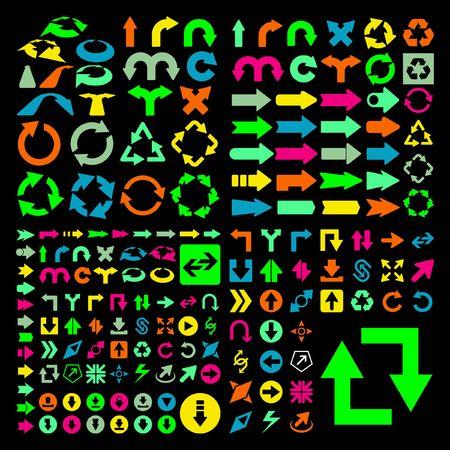 Set of arrows.  Vector