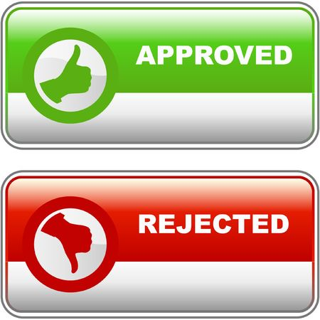 Approved and rejected icons. Stock Vector - 6877282