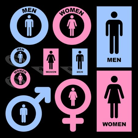 nude mann: M�nnliche und weibliche Symbol.