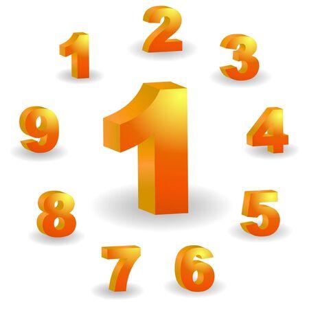 decimal: Number icons.